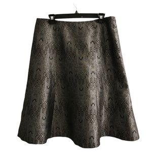 Amanda Smith Paisley A-line Skirt 14